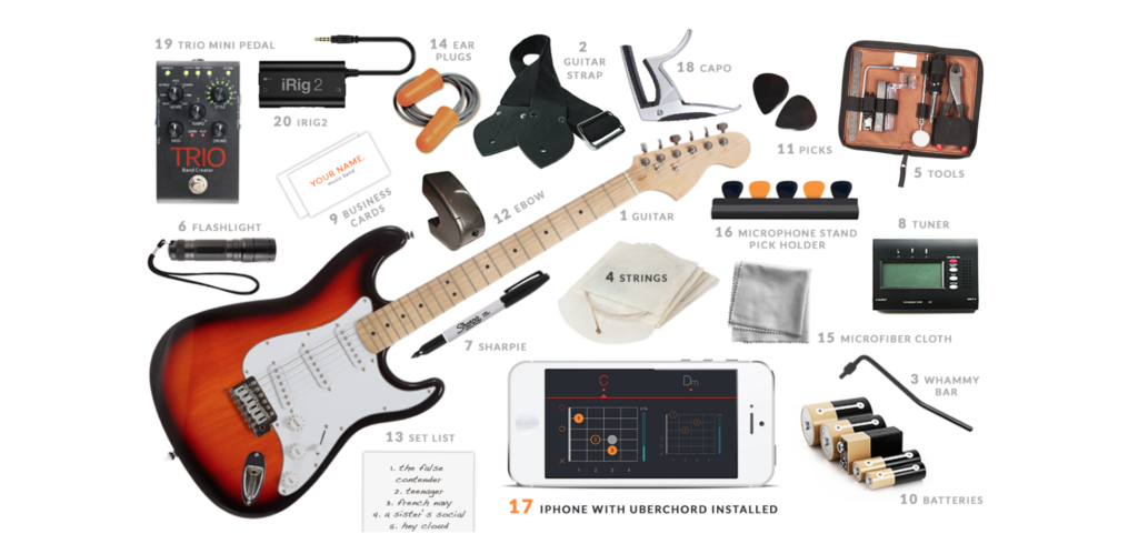 20 Things to Pack in Your Guitar Case