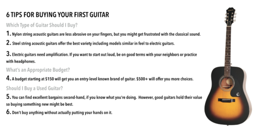 6 Tips For Buying Your First Guitar