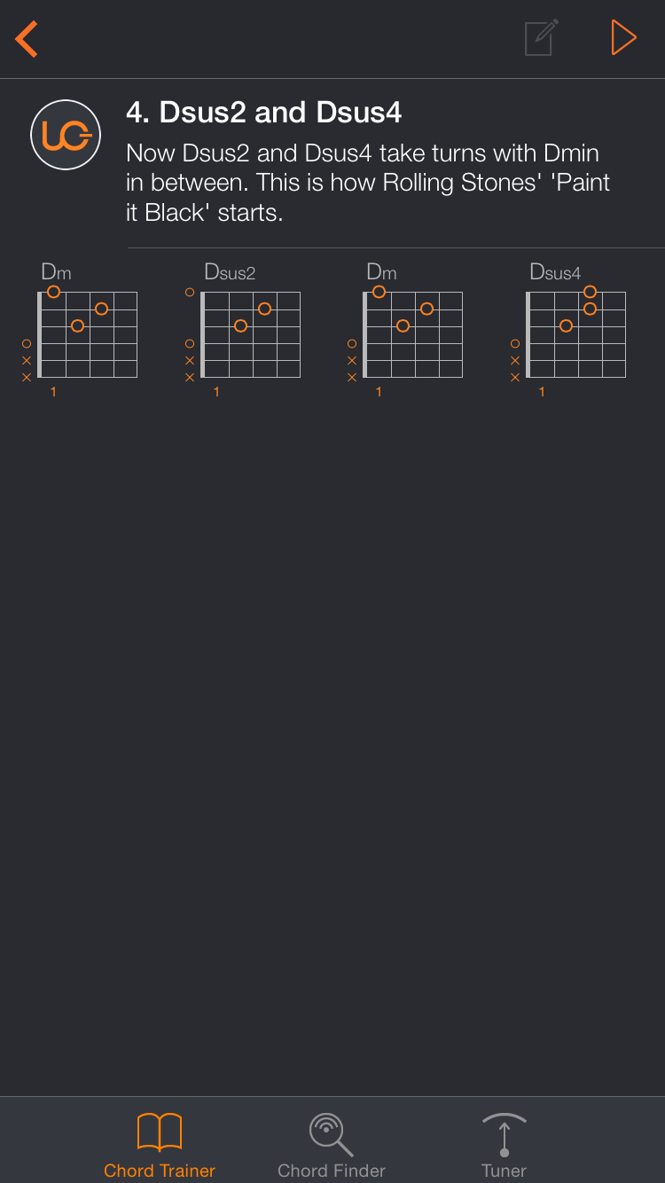 Uberchord App Screenshot 1