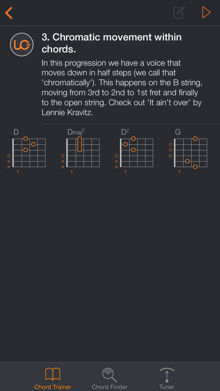 Uberchord App Screenshot 3