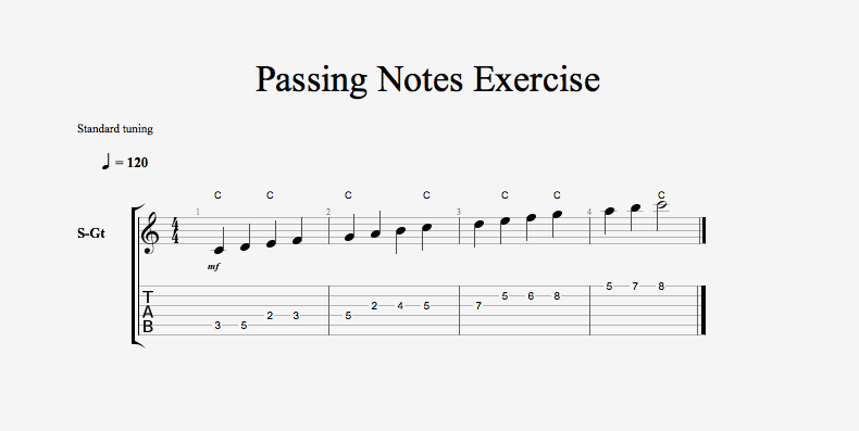 Passing Notes Exercise