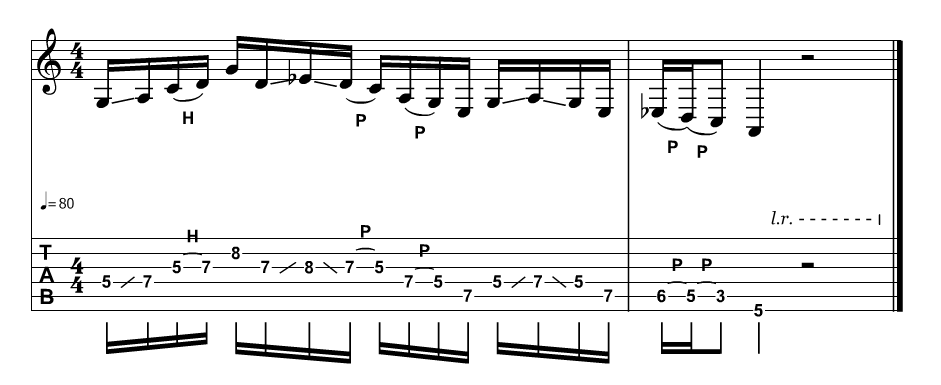 Blues-scale-lick-3