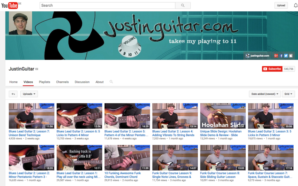 5 Best Youtube Channels For Beginner Guitarists Jamplay Guitar Jamz