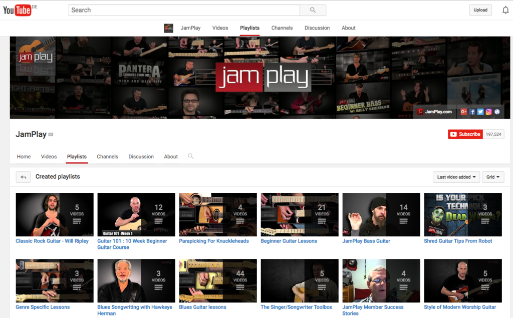 5 Best YouTube Channels for Beginner Guitarists: JamPlay