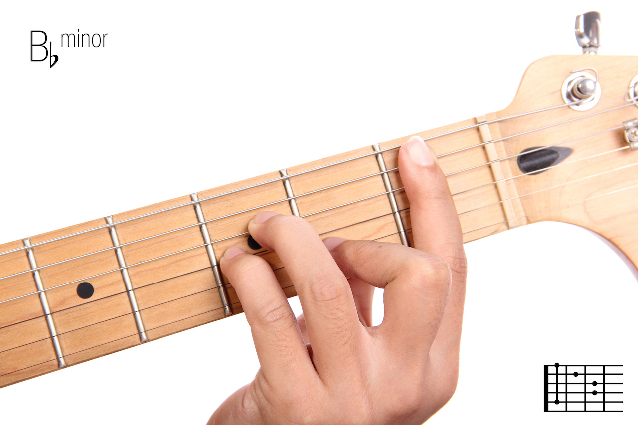 A sharp or b flat minor on guitar chord shapes minor scale a sharp or b flat minor on guitar chord shapes minor scale songs in the key of b flat minor uberchord app hexwebz Image collections